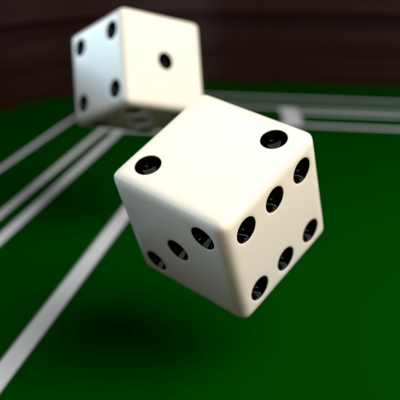 Dices created in Blender