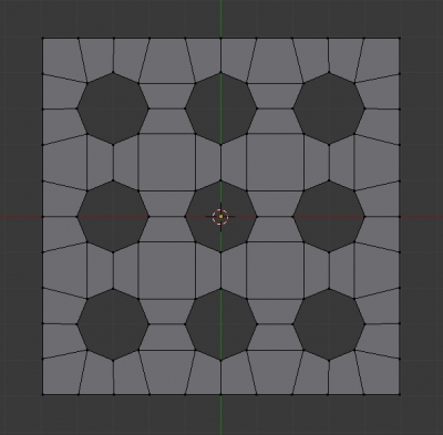 """Одна сторона кубика с отверстиями под """"точки"""""""