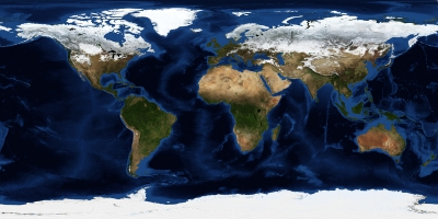 Earth surface map (image from nasa.gov)