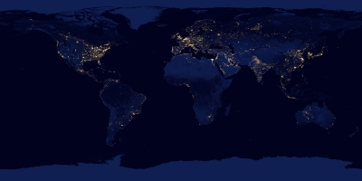 Earth night surface map (image from nasa.gov)