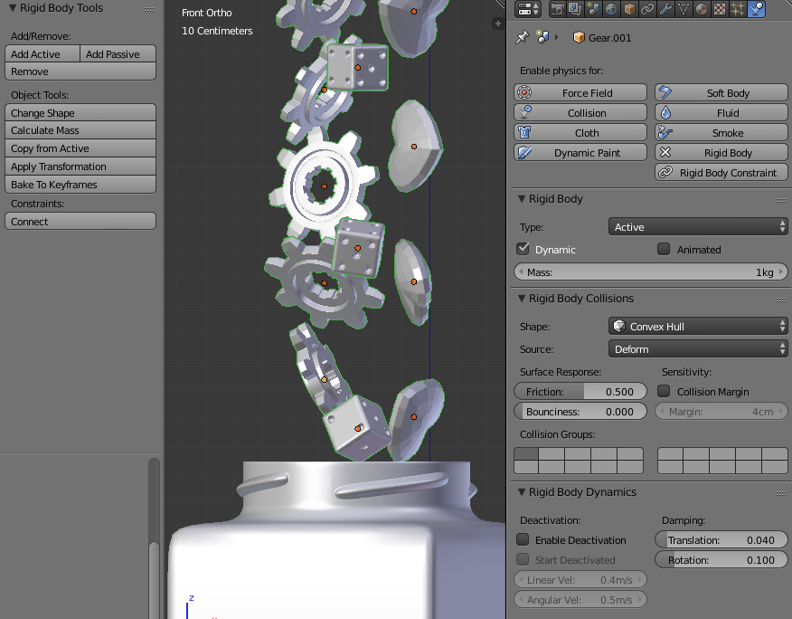 Filling volume with items – Blender – Interplanety