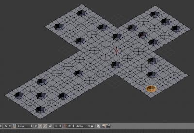"""Заполнение """"точек"""" кубика полусферами"""