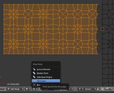 Установка точки вращения вокруг 3D-курсора