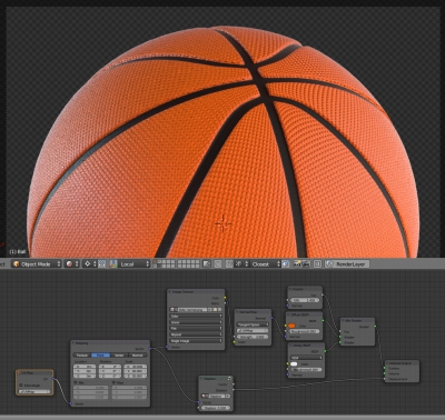 Adding normal map and displace map to basketball material