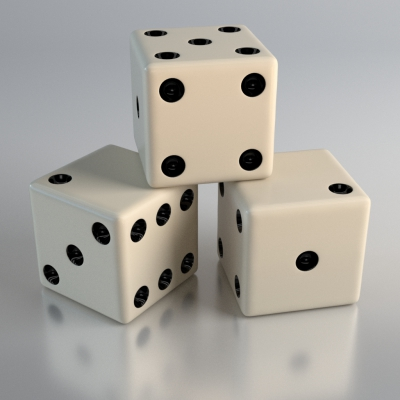 Finished dice render example
