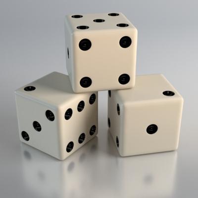 Пример финального рендера игрального кубика