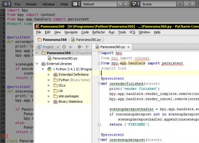 Внешняя IDE для написания скриптов в Blender