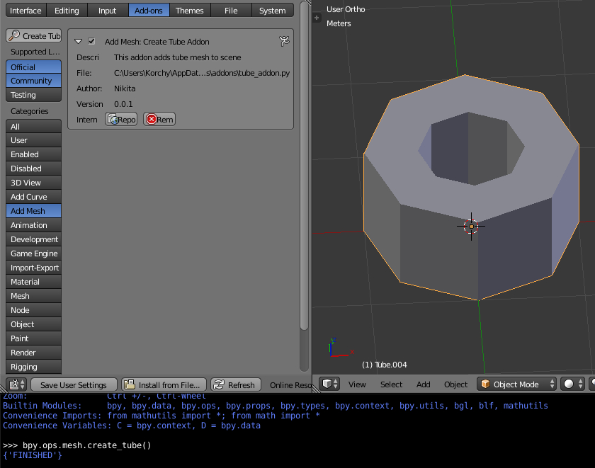 Creating Blender add-on – Blender – Interplanety