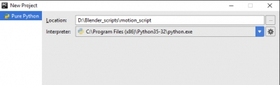 Creating PyCharm project