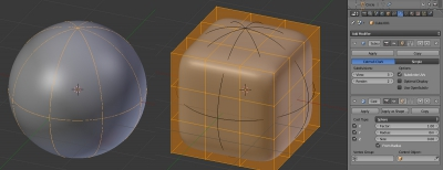 Cube - Subdivision Surface - Cast