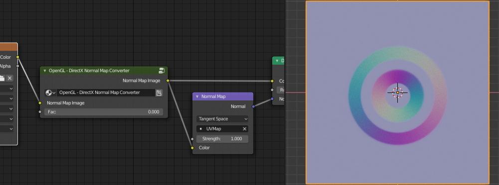 OpenGl – DirectX norma map converter node group in Blender – Blender